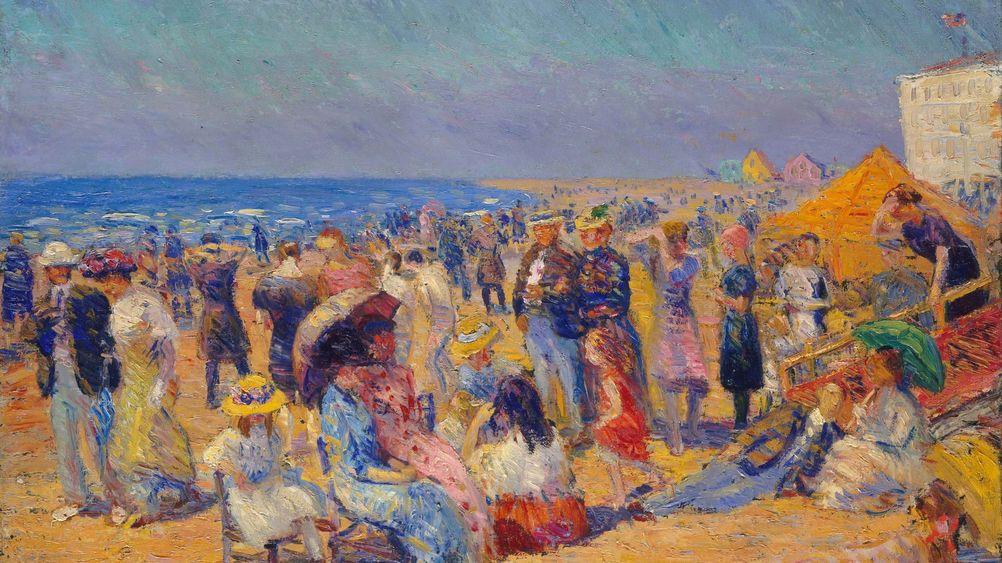 Crowd at the Seashore