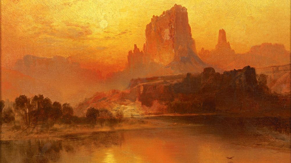 """The Golden Hour"" by Thomas Moran"