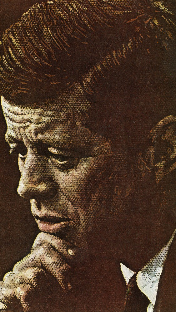 Serious Portrait of Kennedy