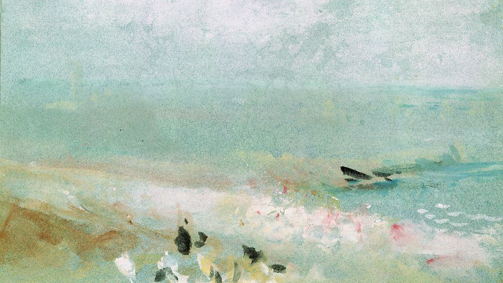 Beach with Figures and a Jetty