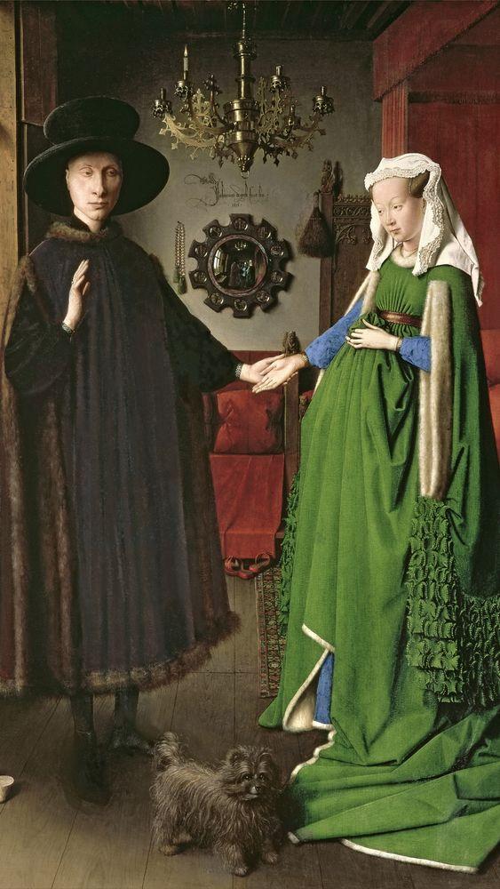 The Portrait of Giovanni Arnolfini and His Wife Giovanna Cenami