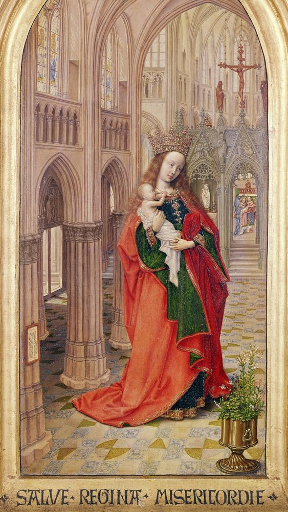 Virgin and Child, left wing of a diptych