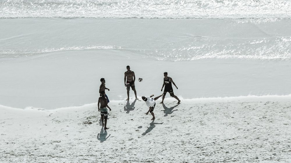 Soccer Game on the Beach