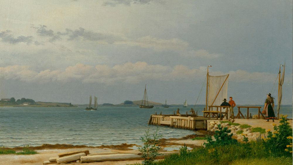 View Towards Koster From the Jetty at Kallehave