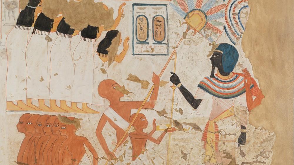 Dragging a Statue of Thutmose I (facsimile)