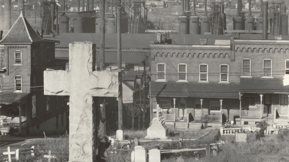 Bethlehem Graveyard and Steel Mill. Pennsylvania