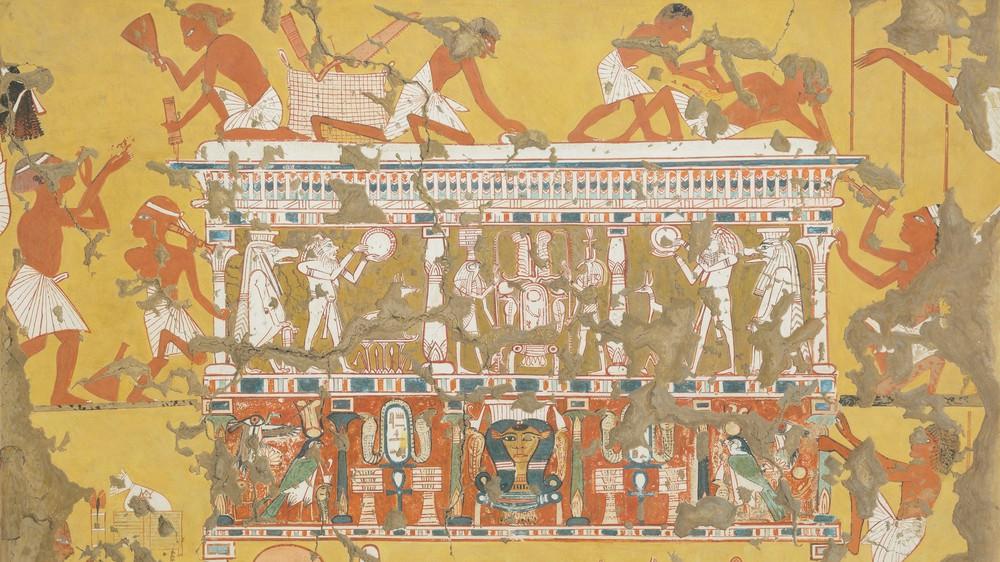 Building a Catafalque, Tomb of Ipuy (facsimile)