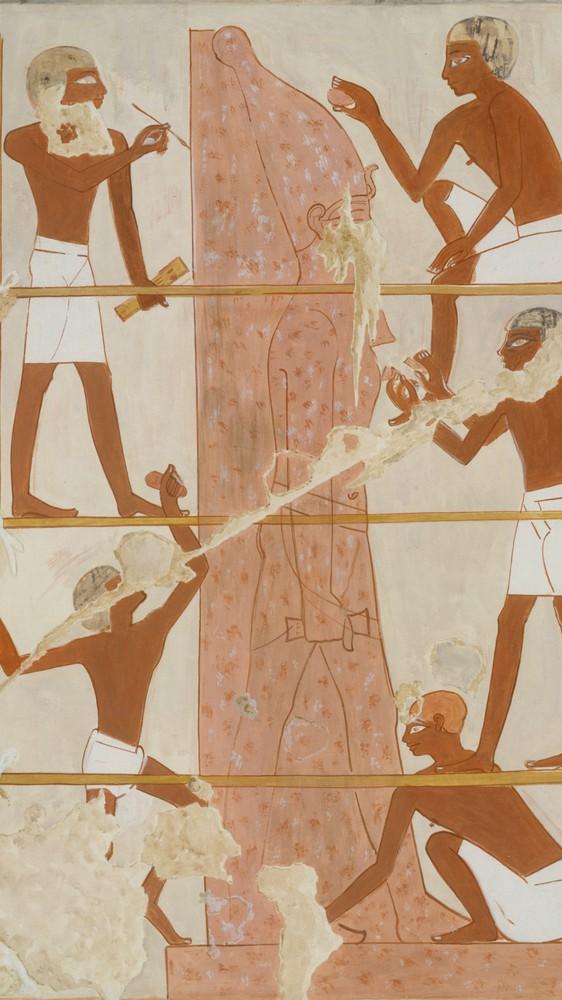 Sculptors at Work, Tomb of Rekhmire (facsimile)