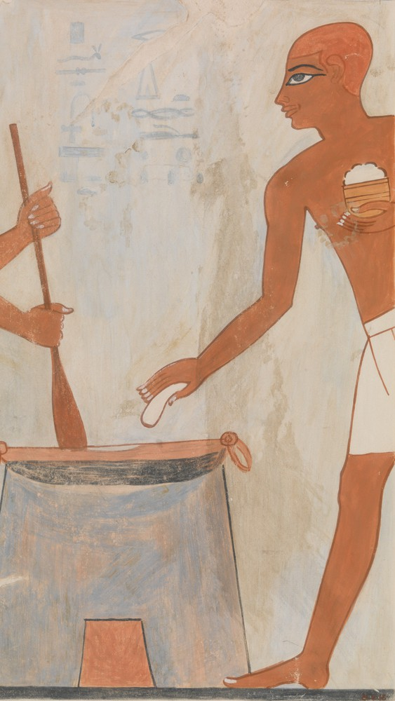 Cooking Cakes with Fat, Tomb of Rekhmire (facsimile)