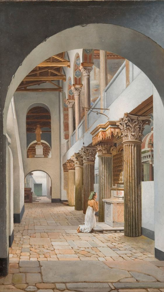 View of the Church of San Lorenzo fuori le Mura